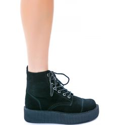 T.U.K Suede 7 Eye Mondo Creeper Boot