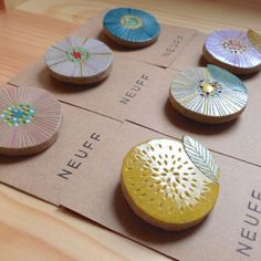 Japanese designed brooches