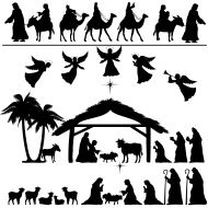 Nativity silhouettes stock vector art 13776732 - iStock