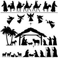 Nativity Silhouette Set