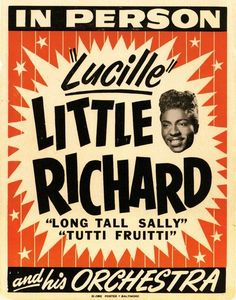 Little Richard and his Orchestra - concert poster.