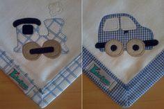 Kit Fralda de Boca com 02 unidades em tecido duplo (04 camadas para melhor absorção) 100% algodão com patch apliqué e bainha em tecido. <br> <br>*As fraldinhas também podem ser personalizadas escolhendo o tema e a cor do tecido para montar o kit.