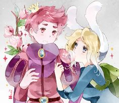 adventure time, prince gumball, fionna