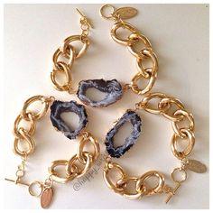 Image of Agate Druzy Bracelet
