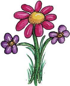 FLORES Y LETRAS PARA DECOUPAGE (pág. 4) | Aprender manualidades es facilisimo.com Rock Flowers, Art Flowers, Drawing Flowers, Happy Flowers, Spring Flowers, Pattern Coloring Pages, Coloring Book Pages, Cute Clipart, Flower Clipart