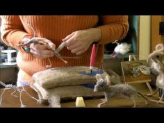 ▶ How To Needle Felt - Mouse Series 3: Building up the Body by Sarafina Fiber Art - YouTube