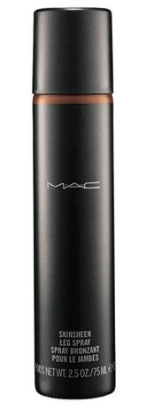 MAC  Skinsheen  Leg Spray  A smooth-on gel  based bronzer that's  soft and mousse-like  to apply yet provides  sheer to low coverage  with subtle sheen and  radiance. Excellent  for spring/summer  or all year round,  two shades available.  75ml RRP $48