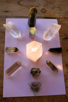 "Crystal grids can be used for many purposes or manifestations. They can be small enough to fit on a table top or as big as our yard/garden. We can use just a few stones or hundreds! ""Grid"" is the"