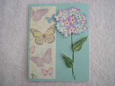 Painted Hydrangea Card by LisasPaintedCrafts on Etsy, $5.50
