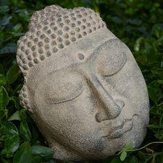 Serene Buddha Face - Stonewashed http://www.bighappybuddha.com/smbuhe.html