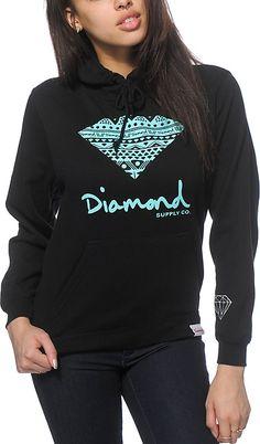 Zumiez Diamond Supply Co. Tribal Diamond Hoodie Found on my new favorite app Dote Shopping #DoteApp #Shopping