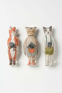 Critter Pocket Doll - Anthropologie.com Kinda obsessed with these