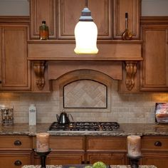 Subway Baclsplash With Oak Cabinets Design Ideas, Pictures, Remodel and Decor