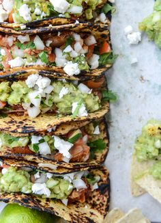 Chicken Tinga Tacos with Grilled Corn Guac
