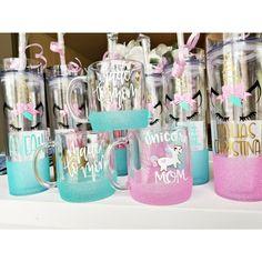 Unicorn Glitter Mug // Kids unicorn cup // Glitter Tumbler Kids Glitter Cup // Unicorn Coffee Mug // Mom Glitter Mug MomandCrew.com