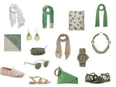 Accessories, step by step: Khaki and Green