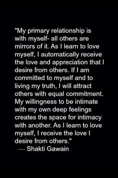 You have to love yourself first or you'll never know what kind of love you really deserve!!!
