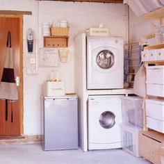 Utility room in the garage? You can still pretty it up with accessories