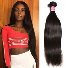 Shop the latest collection of Nadula Brazilian Straight Virgin Human Hair 1 bundle Weave Unprocessed Real Remy Human Hair Extension Can Dyed Bleached Natural Color from the most popular stores - all in one place. Similar products are available. Black Hairstyles With Weave, Straight Weave Hairstyles, Twist Hairstyles, Cool Hairstyles, Sew In Extensions, Synthetic Hair Extensions, Human Hair Extensions, Remy Human Hair, Remy Hair