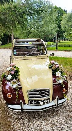 2cv - dressed for a wedding?
