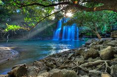 Llanos del Cortez waterfall in Guanacaste, Costa Rica. Most amazing place I've every been with my husband.