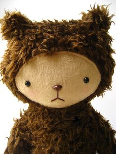 I want this for MYSELF!!! Kawaii Teddy Bear Plushie from Etsy.com