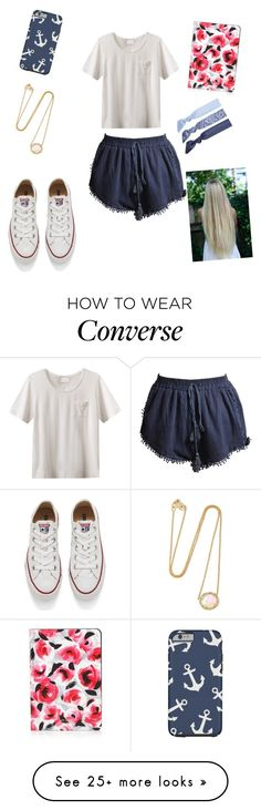 """""""Tomorrow is my first day of spring break!!!!"""" by raquate1232 on Polyvore featuring EAST, Kimberly McDonald, Kate Spade, Splendid and Converse"""