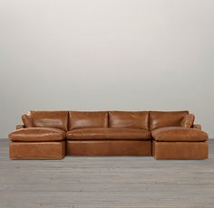 DREAM COUCH. Belgian Track Arm Leather U-Chaise Sectional