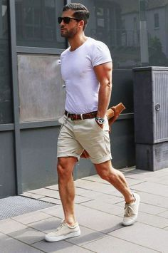 40 stylish casual summer outfits ideas for mens men's fashio Summer Fashion Outfits, Casual Summer Outfits, Fashion Shorts, Short Outfits, Men's Outfits, Blazer Fashion, Party Outfits, Outfit Summer, Summer Shorts