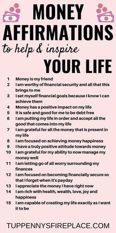 Manifest money, Secret quotes, affirmations, Law of attraction, manifest, The Secret quotes