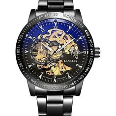 Stainless Steel Skeleton Steampunk Mechanical Watch - Skullflow    https://www.skullflow.com/collections/skull-watches/products/stainless-steel-skeleton-mechanical-mens-watch
