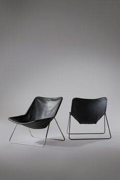 Pierre Guariche, 'Pair of G1 Chairs', ca. 1970