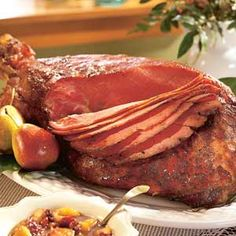 Few holiday meats are easier to cook than a ham. Just season and let it bake.