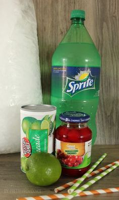 Looking For Refreshing Summer Drink Recipes? One Of Our Favorite Summer Drinks Is This Cherry Limeade. It Tastes Just Like Sonic Cherry Limeade! Now You Can Make It At Home With Our Cherry Limeade Recipe! Kid Drinks, Frozen Drinks, Fruit Drinks, Smoothie Drinks, Non Alcoholic Drinks, Smoothies, Beverages, Party Drinks, Vodka Drinks
