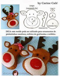 Il est magnifique! Une belle décoration de Noël que vous pourrez suspendre au sapin de Noël ou offrir en cadeaux en le fixant à un emballage cadeaux! Un beau projet de couture et de broderie à faire à la main en écoutant vos émissions préférées les
