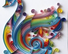 Quilled Paper Art: Colourful Hummingbird Handmade by Gericards