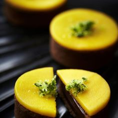 Chocolate & Coriander Tart with Mango