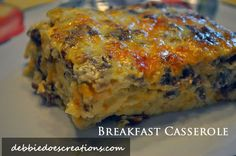 Debbie Does Creations: Breakfast Casserole: A quick and easy 4 ingredient casserole!