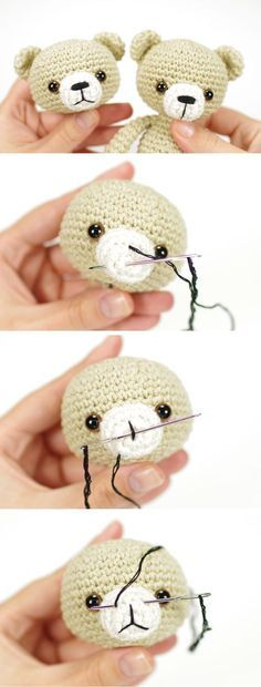 Amigurumi Tips and Tricks : Simple Embroidered Nose Kristi...