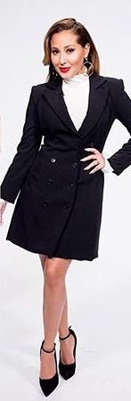 Adrienne Bailon The Real Daytime black longline blazer