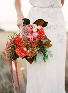 Apple Orchard Wedding Inspiration  Love the fall colors.  The reds, greens, and browns go so well together.