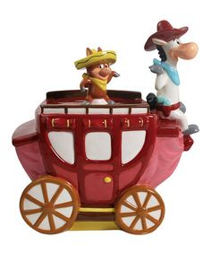 Take a look at this Quick Draw Mcgraw On Carriage Cookie Jar by Westland Giftware on #zulily today!
