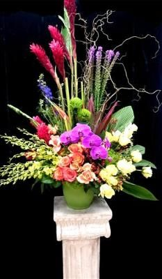 Tropical Medley Arrangement Funeral Flowers, Sympathy Flowers, Funeral Flower Arrangements from San Francisco Funeral Flowers.com Search for chinese funeral, sympathy funeral flower arrangements from our SanFranciscoFuneralFlowers.com website. Our funeral and sympathy arrangements include crosses, casket covers, hearts, wreaths on wood easels, coronas fúnebres, arreglos fúnebres, cruces para velorio, coronas para difunto, arreglos fúnebres, Florerias, Floreria, arreglos florales, corona…