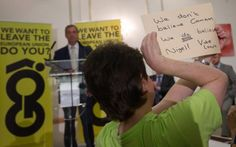 UKIP leader Nigel Farage speaks at a Grassroots Out! campaign rally at the…