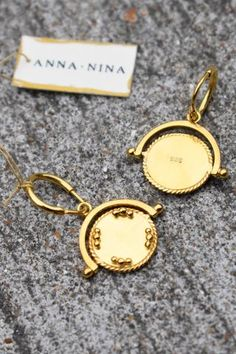 Anna + Nina Sovereign Gold-Plated Sterling Silver Earrings
