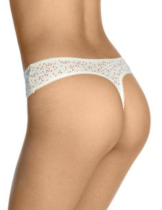 5 Pack Lace Waist High Rise Thongs