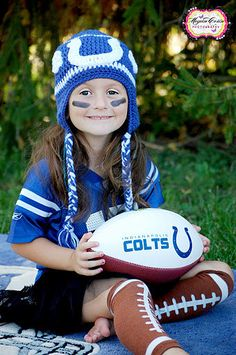Indianapolis Colts Fan Hat Infant-Adult Sizes Available. $26.06, via Etsy. Totally wanna do this with my daughter
