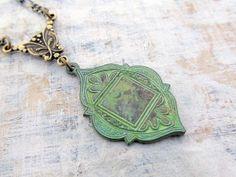 ethnic bohemian necklace, patina Moroccan necklace, Boho Jewelry, Bohemian jewelry on Etsy, $18.00
