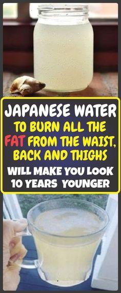 Japanese Water To Burn All The Fat From The Waist, Back, And Thighs Japanisches Wasser, um das gesamte Fett von Taille, Rücken und . Diet Drinks, Healthy Drinks, Healthy Eating, Healthy Foods, Beverages, Healthy Skin, Healthy Recipes, Clean Eating, Happy Healthy
