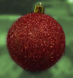 Glass ornament crafts / glitter